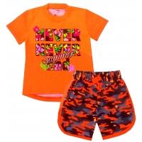 """5822-54 """"Summer"""" комплект туника-шорты, 5-8 лет, оранжевый"""
