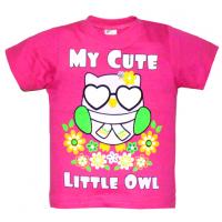 "15-140214 ""LITTLE OWL"" Футболка, 1-4 года, малиновый"