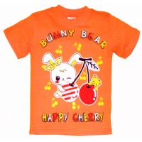 """15-140215 """"BUNNY BEAR"""" Футболка, 1-4 года, оранжевый"""