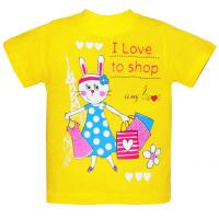 "15-140216 ""I LOVE to SHOP"" Футболка, 1-4 года, желтый"