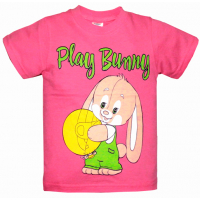 "15-140217 ""PLAY BUNNY"" Футболка, 1-4 года, розовый"