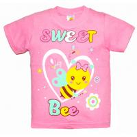 "15-1402178 ""SWEET BEE"" Футболка, 1-4 года, розовый"