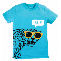 "10-140105 ""SUP"" футболка, 1-4 года, голубой"