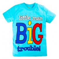 "10-140106 ""BIG"" футболка, 1-4 года, светло-голубой"