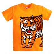 """10-140108 """"TIGER"""" футболка, 1-4 года, оранжевый"""