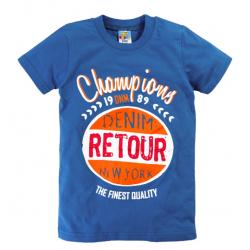 """10-140110 """"RETOUR"""" футболка, 1-4 года, синий"""