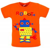 """11-140107 """"ROBOT"""" Футболка, оранжевый, 1-4 года"""