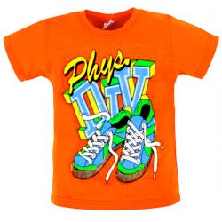 "11-140115 ""SHOES"" Футболка, оранжевый, 1-4 года"
