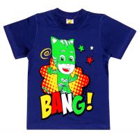 """1401-11 """"BANG!"""" Футболка для мальчиков, 1-4 года, синий"""