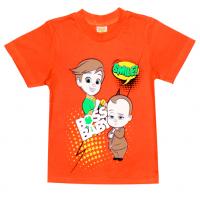 """1401-13 """"BOSS"""" Футболка для мальчиков, 1-4 года, оранжевый"""