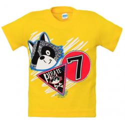 "1401-34 ""Pirate"" Футболка для мальчиков, 1-4 года, желтый"