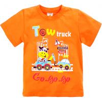 """15-140104 """"TOW TRUCK"""" Футболка для мальчиков, 1-4 года, оранжевый"""