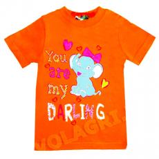 """15-140212 """"You are Darling"""" футболка для девочек, 1-4 года, оранжевый"""