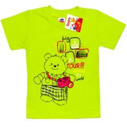 """2602-03 """"TOUR"""" футболка для девочек, 2-6 лет, салатовый"""