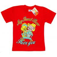 "2602-05 ""Sweet Bear"" футболка 2-6 лет, красный"