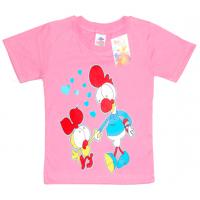 """2602-07 """"Птенчик Мой"""" футболка для девочек, 2-6 лет, розовый"""