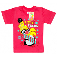 "2602-12 ""Little Pinguin"" футболка, 2-6 лет, коралл"