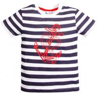 15-260120  TOPOLINO футболка, черная полоса, 92-116
