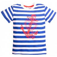 15-260122 TOPOLINO футболка, синяя полоса, 92-116