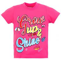 "15-480223 ""GROW UP SHINE"" Футболка, 4-8 лет, розовый"