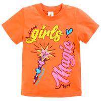 "15-480225 ""GIRLS MAGIC"" Футболка, 4-8 лет, оранжевый"