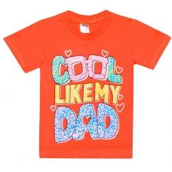 """4802-29 """"Cool Like My Dad"""" футболка для девочек, 4-8 лет"""