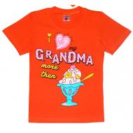 """15-480207 """"Grandma"""" футболка, 4-8 лет, оранжевый"""