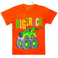 """15-480102 """"TRACK BIG"""" Футболка для мальчиков, 4-8 лет, оранжевый"""