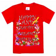 """15-480205 """"Wonderland"""" Футболка для девочек, 4-8 лет"""