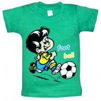 """09-580101 """"ФУТБОЛИСТ"""" футболка, 5-8 лет, изумрудный"""