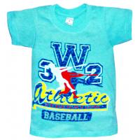 """10-58164 """"ATHLETIC"""" футболка, 5-8 лет, бирюза"""