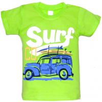 """10-58172 """"SURF"""" футболка, 5-8 лет, салатовый"""