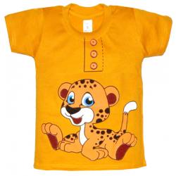 """10-58161 """"FUNNY TIGER"""" футболка, 5-8 лет, горчичный"""