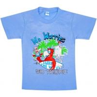 """5801-014 """"No Worries"""" футболка для мальчиков 5-8 лет"""