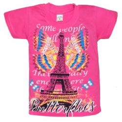 """10-5859 """"PARIS"""" футболка, 5-8 лет, розовый"""