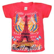 """10-5860 """"PARIS"""" футболка, 5-8 лет, красный"""
