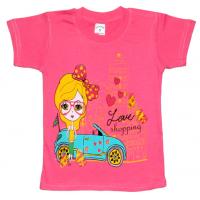 "10-5856 ""SHOPPING"" футболка, 5-8 лет, розовый"