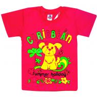 """5902-023 """" Caribbean"""" футболка для девочек, 5-9 лет, малиновый"""