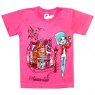 """5902-10 """"Тур"""" футболка для девочек 2-6 лет"""