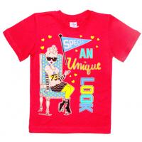 """5902-028 """"LOOK"""" футболка для девочек, 5-9 лет, красный"""