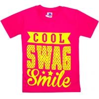 """5902-2 """"Улыбочка"""" футболка для девочек 5-9 лет, розовый"""