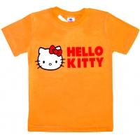 """5902-5 """"HELLO"""" футболка для девочек 5-9 лет"""