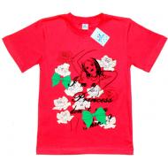 """91302-22 """"Princess"""" футболка для девочек, 9-13 лет, красный"""