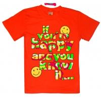 """81202-30 """"Happy"""" Футболка для девочек, 8-12 лет"""