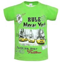 """15-912018 """"RULE NEW YORK"""" Футболка, 9-12 лет, зеленый"""