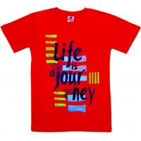 """91302-1 """"Жизнь - Путешествие!"""" футболка для девочек 9-13 лет"""