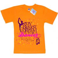 """91302-25 """"Dancer"""" футболка для девочек, 9-13 лет, морковный"""