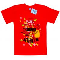 """91302-27 """"Corner"""" футболка для девочек, 9-13 лет, красный"""