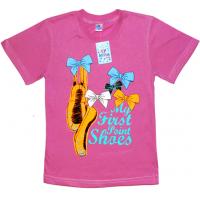 """91302-28 """"Пуанты"""" футболка для девочек, 9-13 лет, сиреневый"""