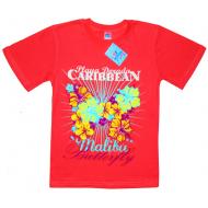 """15-9130208 """"Malibu"""" футболка для девочек, 9-13 лет, коралл"""